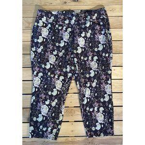 Soft Surroundings floral pants 2XL